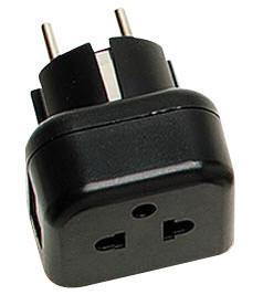 WMVR11 Grounded USA to Grounded European Shucko plug-