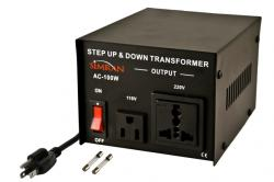 100 Watts TC-100W Universal Socket Voltage Transformer Step Up Step Down
