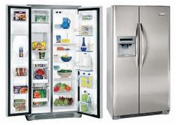 Frigidaire GPSE25V9GS  Side by Side Refrigerator with 220-240 volt