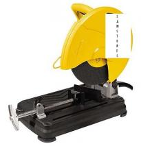 Dewalt DW871 220-240 volt Abrasive Chop Saw with a 2200w high power motor to cut steel, ferrous metal