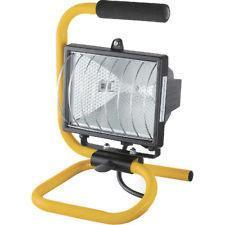 EWI EW010 Portable 500W Halogen Floodlight, White & Black Stand 220Volt 50/60Hz