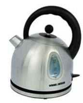 Black and Decker DK25 Stainless Steel Cordless Dom Kettle 220V