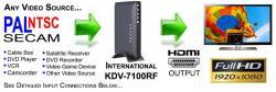 International KDV-7100 VIDEO CONVERTER