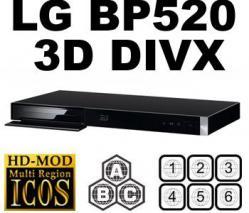 LG BP-520 3D REGION FREE BLU RAY PLAYER FOR 110-240 VOLTS (REGION A,B,C)