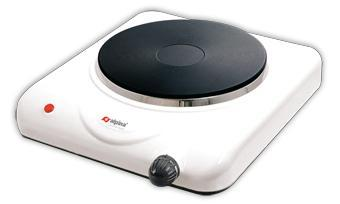ALPINA SF-6002 WHITE SINGLE HOT PLATE 220 VOLT