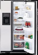 GE PSG25SGCBS 25 c.f. Stainless Steel 220 Volt Refrigerator