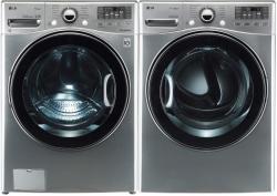 LG WM3470HVA & DLGX3471V Washer & Gas Dryer Set TurboWash ColdWash 6Motion Steam (Refurbished- for USA)