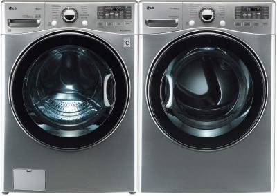 LG WM3470HVA & DLGX3471V Washer & Gas Dryer Set TurboWash ColdWash 6Motion Steam (Refurbished- for USA)