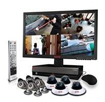Revo R164D4EB4EM212T 16 Channel Surveillance System with 8 High-Resolution 600TVL Cameras & 2 TB Hard drive 110- 240 volts