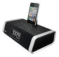 iHome ID45BZ App-enhanced Alarm Stereo Clock Radio for iPhone/iPod with FM Presets