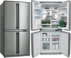 FRIGIDAIRE FQE6307SAE New Design 4 Door Refrigerators Bottom Freezer for 220 Volts
