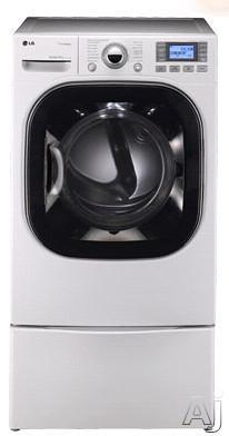 LG DLGX3876W 7.4 CU. FT. ULTRA CAPACITY FRONT LOAD GAS STEAM DRYER (FACTORY REFURBISHED)(FOR USA)