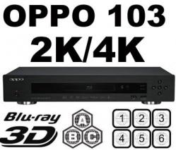OPPO BDP-103 2K/4K 2D/3D Multi Zone ALL Region Code Zone Free Blu Ray DVD Player SPECIAL ORDER