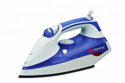 Alpina SF-1317 Non-stick Full Function Powerful 2200 Watts Steam Iron with Large Water Tank and Self Cleaning, 2200 Watts - For 220/240 Volt Countries