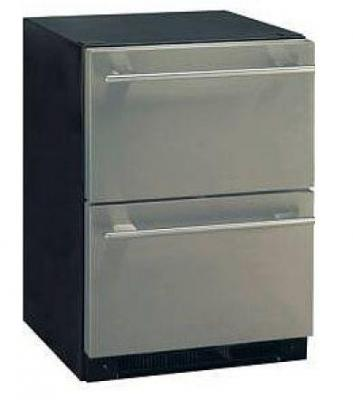 Aficionado C123 Built In 24 Dual Drawer Refrigerator Stainless Steel FACTORY REFURBISHED (FOR USA)