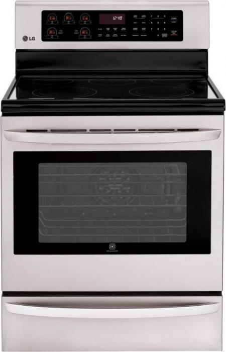 lg lre3025st 30 electric radiant cooktop range convection. Black Bedroom Furniture Sets. Home Design Ideas