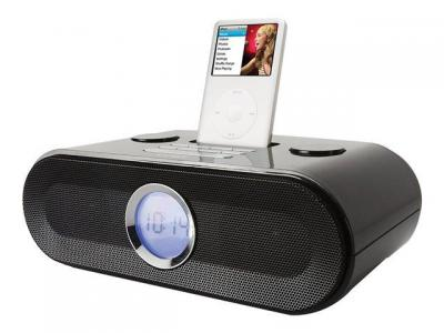 COBY CS-MP125 Dual Alarm/Clock Radio with Universal Dock for iPod FOR 110-240 Volts
