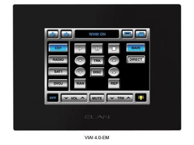 Elan VIA4 0EM 4 INCH In-Wall Color Touch Panel/Video Monitor 110 VOLTS FOR USA USE ONLY