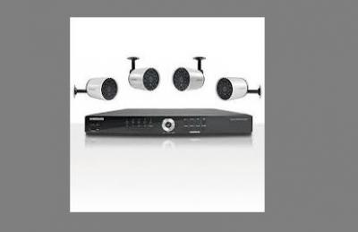 Samsung SDE4004N 8ch Security Camera System 110 - 240 Volts