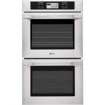 LG LSWD305ST Studio Series 9.4 Double Wall Oven with 4 Convection Options, LCD SmoothTouch Controls Stainless Steel Factory Refurbished (For USA)