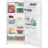 GE GTE16CBCWW 16 Cu. Ft. Top Mount Refrigerator 220 VOLTS