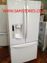 LG LFX25978SW 25.0 Cu. Ft. French Door Refrigerator Smooth White Factory Refurbished (For USA)