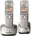 Panasonic KXTG4012 Expandable Digital Cordless Phone with 2 handset 220 Volt 50 Hz
