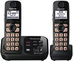 Panasonic KXTG4732 NEW Expandable Digital Cordless Answering System with 2 Handsets 110 to 220 Volt
