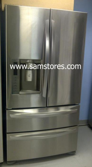 Lg Lmx28988st 27 5 Cu Ft French Door Refrigerator Double