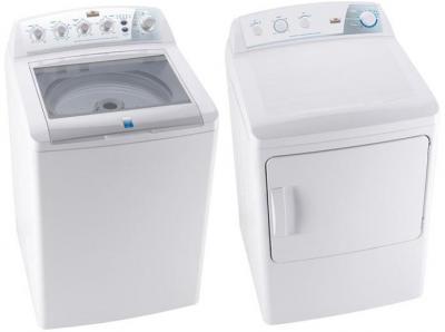 FRIGIDAIRE MKRN13GWAWB DRYER & FRIGIDAIRE MLTU12GGAWB BY WHITE-WESTINGHOUSE WASHER FOR 220-240 VOLT 50 HZ Laundry Packages