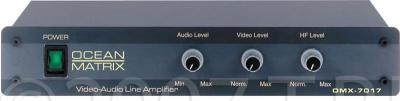 Ocean Matrix OMX-7017 1 x 2 Video & Stereo Audio Distribution Amplifier 110 Volts Only for use in USA