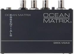 Ocean Matrix OMX-VDA3 Essential Series 1x3 Composite Video Distribution Amplifier  110 Volts Only for use in USA