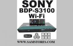 Sony BDPS3100 Region Free DVD and Region A,B,C Blu-Ray Player - With Wi-Fi FOR 110 TO 220 VOLTS
