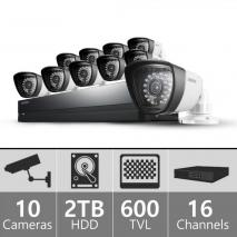 SAMSUNG SDSP-5100N/US 16ch Security 10 Camera System 110 - 2240 VOLTS
