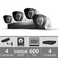 Samsung SDE3003N 4ch DVR with 1 Audio Camera Upgrade for 110 - 240 Volts