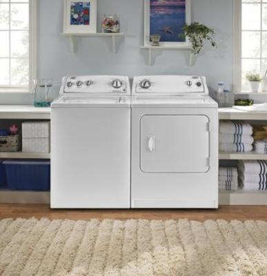 WHIRLPOOL WTW4800YQ TOP LOADING WASHER  & WHIRLPOOL WED4800YQ ELECTRIC DRYER  SET 220-240 VOLTS/ 50 HERTZ