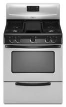 Whirlpool 3WFG231LVS SS 30 inch Stainless Steel Gas Stove 220-240 Volts  50/60 hertz