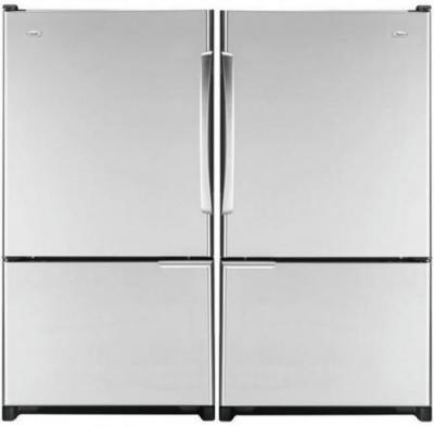 WHIRLPOOL WGB5526FEAS R /  WGB5526FEAS L 19 CU.FT. STAINLESS STEEL REFRIGERATOR FOR 220 VOLTS NOT FOR USA
