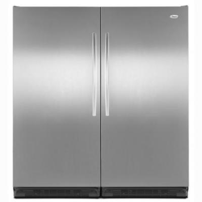 Whirlpool 5VEL88TRAS Refrigerator And Whirlpool 5VEV188NAS Upright Freezer 220-240 Volt 50/60 Hertz NOT FOR USA