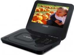 Coby TF-DVD7011 7 inch REGION FREE Portable DVD / CD / MP3 Player FOR 110-240 VOLTS