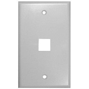 VANCO 820101 1 PORT KEYSTONE WALL PLATE (WHITE) EACH