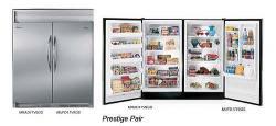 Frigidaire MRAD17V9GS / MUFD17V9GS by Electrolux Prestige Pair Refrigerator Freezer 220-240 Volt/ 50-60 Hz