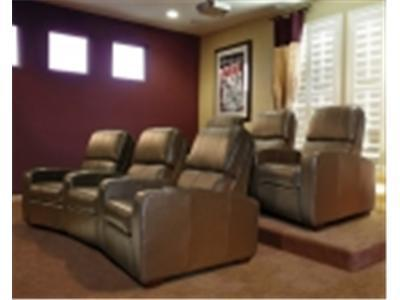 BELL`O HTS101BN Real Leather Left Arm Recliner Chair - brown