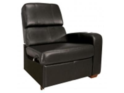BELL`O HTS102BK Real Leather Right Arm Recliner Chair - black
