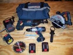 Bosch PK4018220 18V Litheon 4 Pc Combo Kit 220Volts