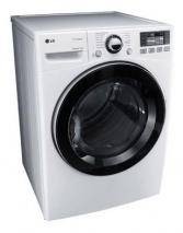 LG DLGX3471W 7.3 cu. ft. Front Load Steam Gas Dryer 12 Drying Programs 5 Temperature Settings, White FACTORY REFURBISHED (For USA)