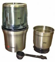 Alpina SF2815 New Electric Stainless Steel Wet and Dry Double Bowl Coffee Grinder for 110 Volts