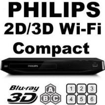 PHILIPS BDP2985 Wi-Fi  2D/3D MultiZone All Region Blu Ray DVD Player 110-220 VOLTS