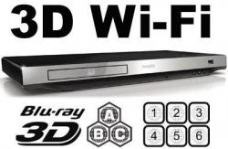 PHILIPS BDP-5406 Wi-Fi  2D/3D  Region Free DVD Disc Blu Ray Disc Player 100-240V 50/60Hz