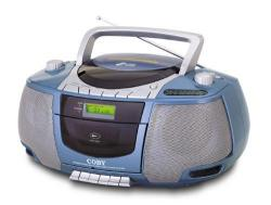 Coby MPCD450 Portable MP3/CD/RADIO/STEREO CASSETTE PLAYER/ RECORDER 110-220 Volt/ 50-60 Hz